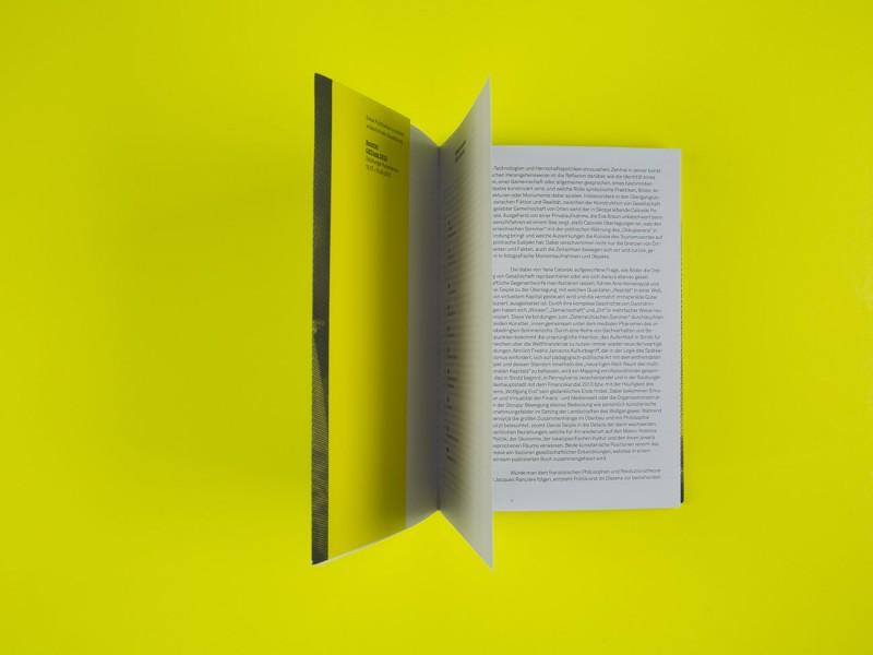 Schriftsatz und Layout und Broschürengestaltung für Salzburger Kunstverein