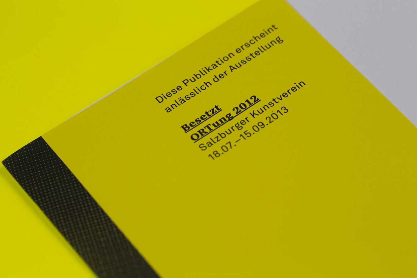Layout und Schriftsatz und Grafikdesign des Umschlags für den Ausstellungskatalog des Salzburger Kunstvereins
