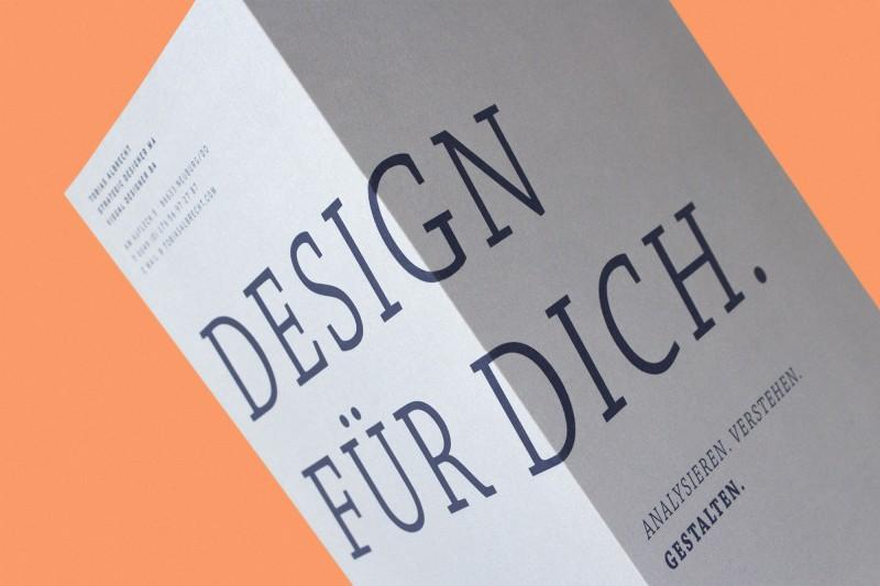 Grafikdesign und Layout der neuen Firmenbroschüre für Tobias Albrecht in Neuburg an der Donau